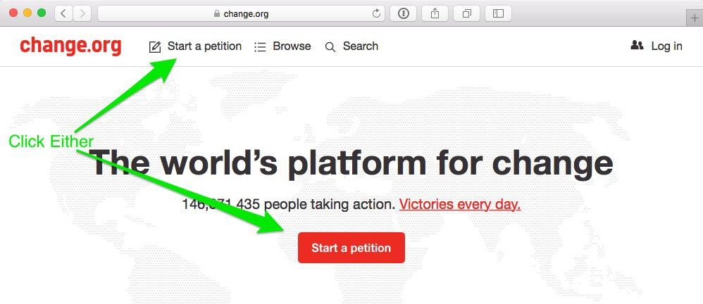 Step 1 Start a Petition