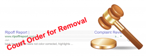 Legal action against RipOff reports search results