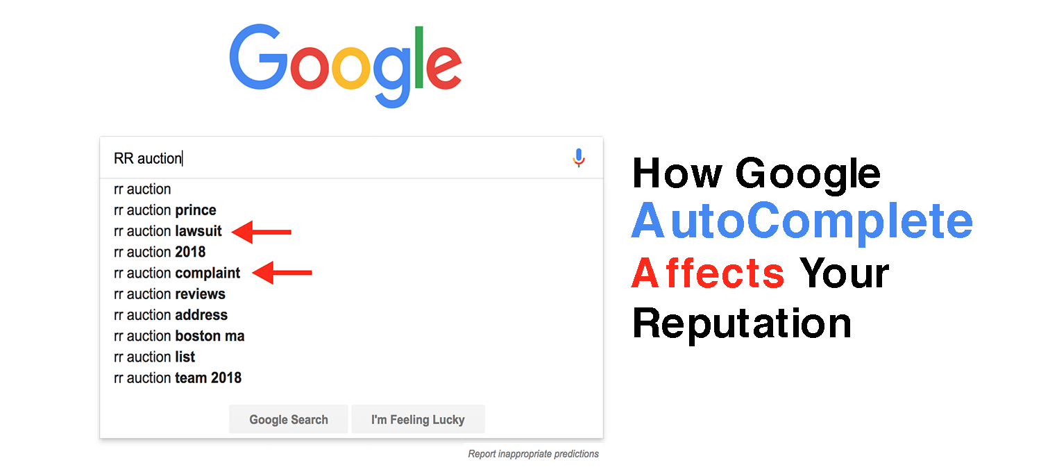 This image talks about How Google Search AutoComplete Affects and Impacts a Reputation